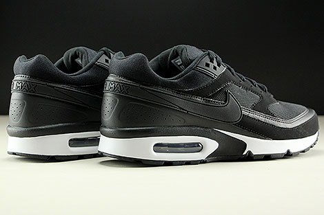 Nike Air Max BW Black Black White Back view