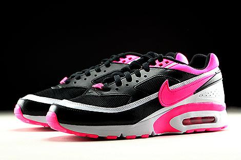Nike Air Max BW GS Schwarz Weiss Pink Seitendetail