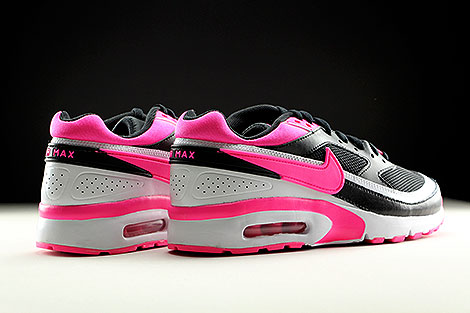 Nike Air Max BW GS Black Pink Blast White Back view