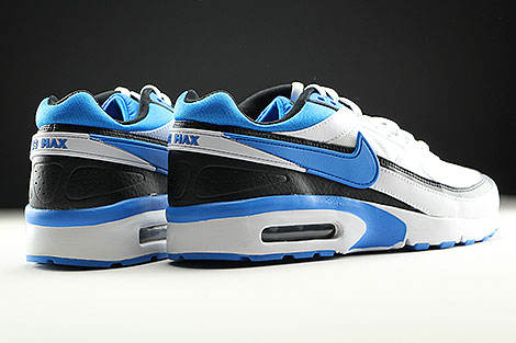 Nike Air Max BW GS White Photo Blue Black Back view
