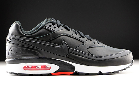 nike air max bw premium black bright crimson wolf grey