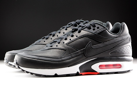 Nike Air Max BW Premium Black Bright Crimson Wolf Grey White Profile