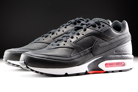Nike Air Max BW Premium Black Bright Crimson Wolf Grey White Sidedetails