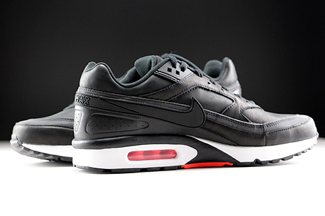 Nike Air Max BW Premium Black Bright Crimson Wolf Grey White Inside
