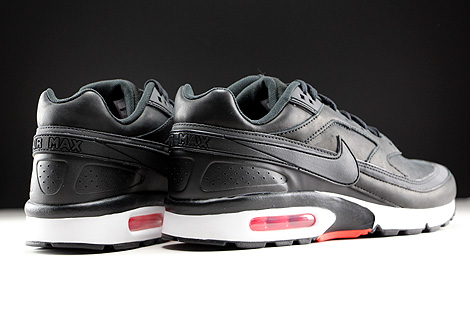 Nike Air Max BW Premium Black Bright Crimson Wolf Grey White Back view