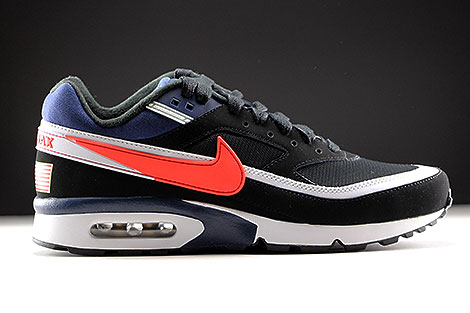 Nike Air Max BW Premium Black Crimson Midnight Navy Right