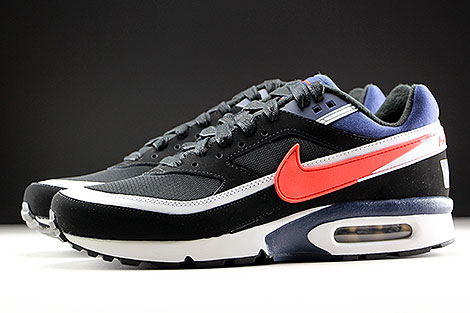 Nike Air Max BW Premium Black Crimson Midnight Navy Profile