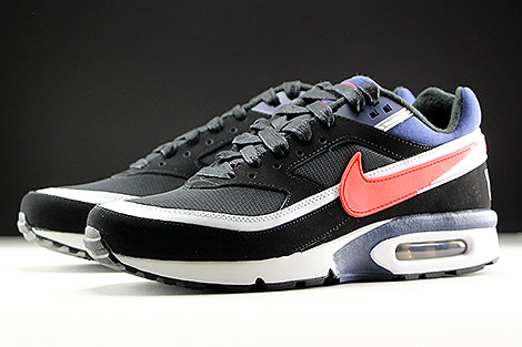 Nike Air Max BW Premium Black Crimson Midnight Navy Sidedetails