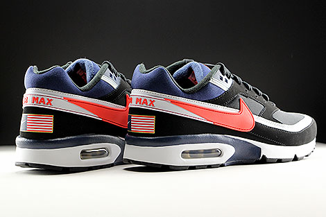 Nike Air Max BW Premium Black Crimson Midnight Navy Back view