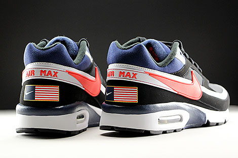 Nike Air Max BW Premium Black Crimson Midnight Navy Over view