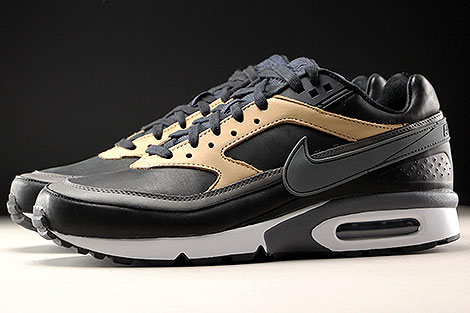 Nike Air Max BW Premium Black Dark Grey Vachetta Tan Profile