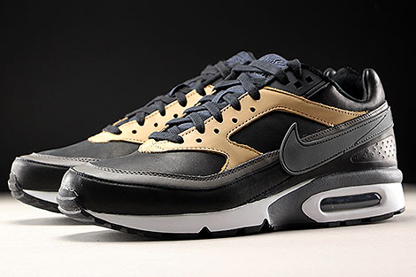 Nike Air Max BW Premium Black Dark Grey Vachetta Tan Sidedetails