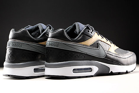 Nike Air Max BW Premium Black Dark Grey Vachetta Tan Back view