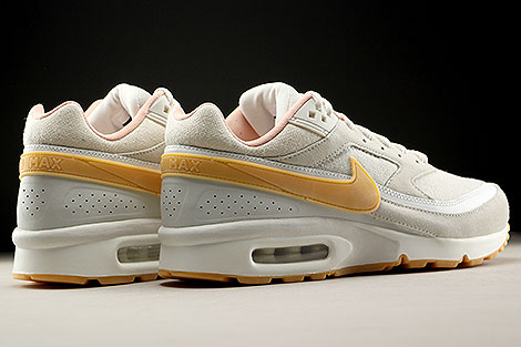 Nike Air Max BW Premium Phantom Gum Yellow Light Bone Back view