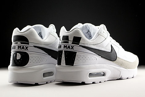 Nike Air Max BW Premium White Black Light Iron Ore Back view