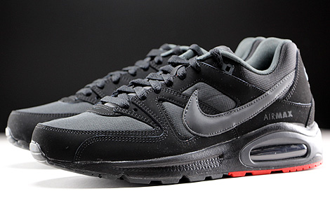 Nike Air Max Command Schwarz Anthrazit Rot Seitendetail