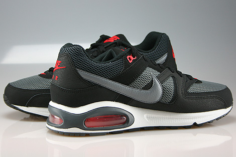 Nike Air Max Command Black Cool Grey Dark Grey Chilling Red Inside