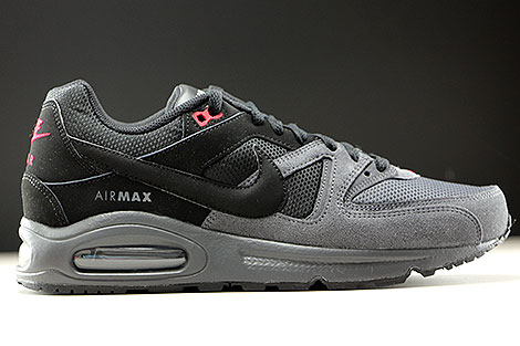 Nike Air Max Command Black Dark Grey Gym Red