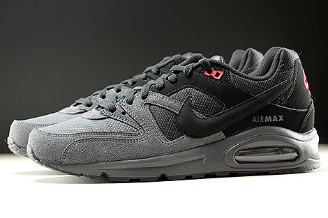 Nike Air Max Command Black Dark Grey Gym Red Profile