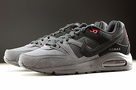 Nike Air Max Command Black Dark Grey Gym Red Sidedetails