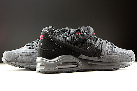 Nike Air Max Command Black Dark Grey Gym Red Inside