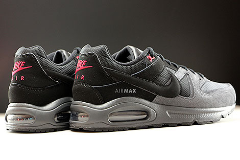 Nike Air Max Command Black Dark Grey Gym Red Back view