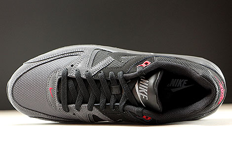 Nike Air Max Command Black Dark Grey Gym Red Over view