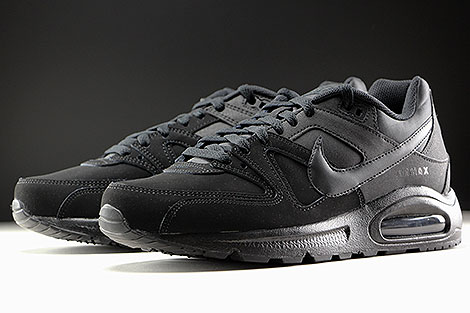 Nike Air Max Command Leather Schwarz Anthrazit Seitendetail