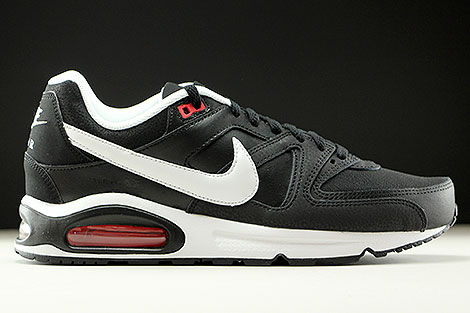 Nike Air Max Command Leather Black White Action Red