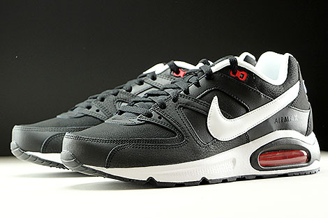 Nike Air Max Command Leather Black White Action Red Sidedetails