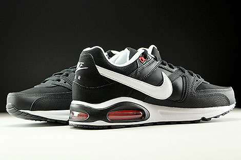 Nike Air Max Command Leather Black White Action Red Inside