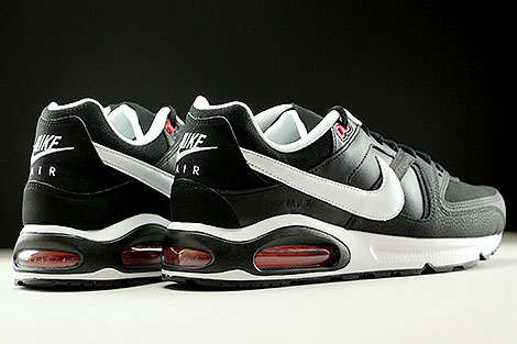 Nike Air Max Command Leather Black White Action Red Back view