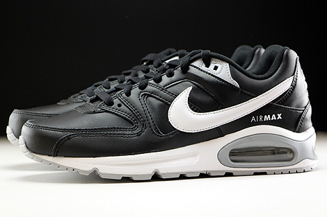 Nike Air Max Command Leather Black White Wolf Grey Profile