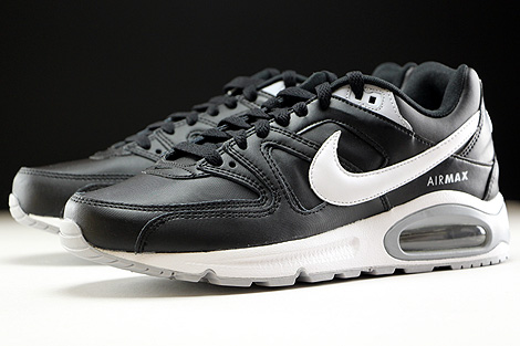 Nike Air Max Command Leather Schwarz Weiss Grau Seitendetail