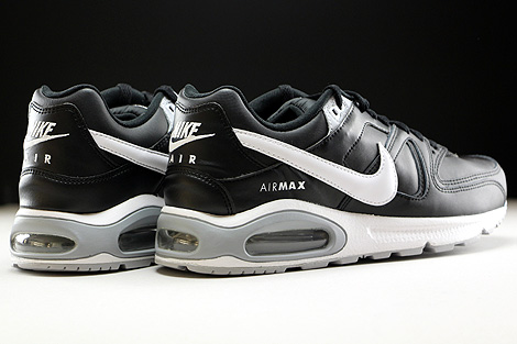 Nike Air Max Command Leather Black White Wolf Grey Back view