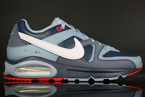 Nike Air Max Command Leather Dunkelblau Graublau Weiss Rot