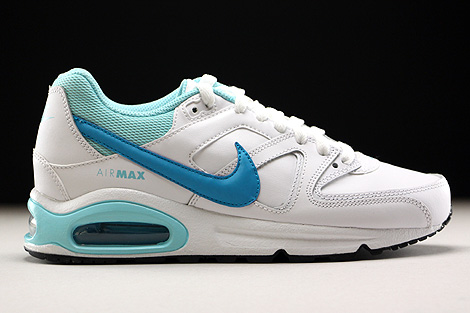 Nike Air Max Command Leather GS Weiss Hellblau Blau Rechts