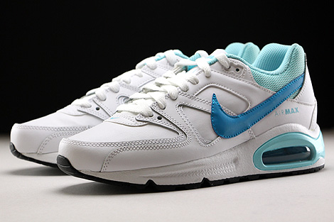 Nike Air Max Command Leather GS Weiss Hellblau Blau Seitendetail