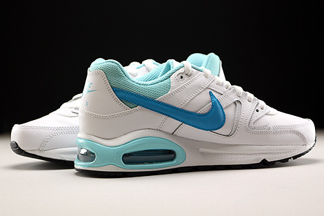 Nike Air Max Command Leather GS Weiss Hellblau Blau Innenseite