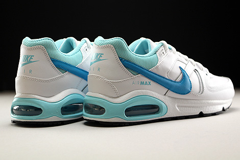 Nike Air Max Command Leather GS Weiss Hellblau Blau Rueckansicht