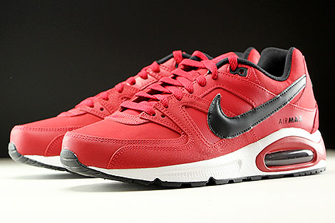 Nike Air Max Command Leather Rot Schwarz Weiss Seitendetail