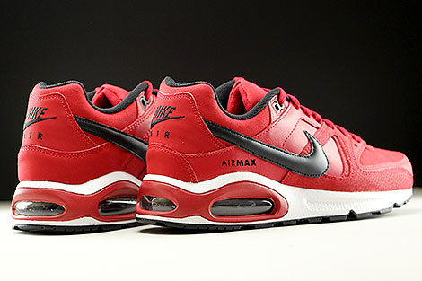 Nike Air Max Command Leather Gym Red Black White Back view