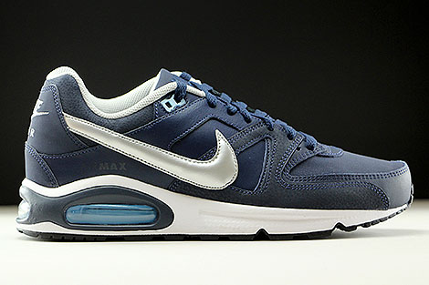 Nike Air Max Command Leather Dunkelblau Silber Weiss