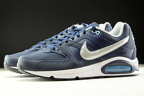 Nike Air Max Command Leather Obsidian Metallic Silver White Profile