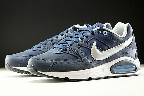 Nike Air Max Command Leather Obsidian Metallic Silver White Sidedetails