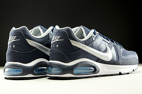 Nike Air Max Command Leather Obsidian Metallic Silver White Back view
