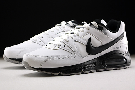 Nike Air Max Command Leather White Black Wolf Grey Sidedetails
