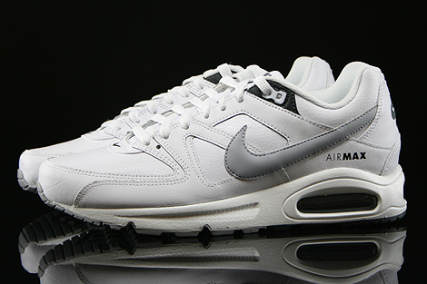 Nike Air Max Command Leather Weiss Grau Anthrazit Seitenansicht