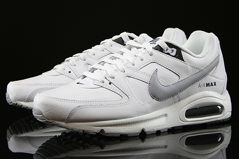 Nike Air Max Command Leather Weiss Grau Anthrazit Seitendetail