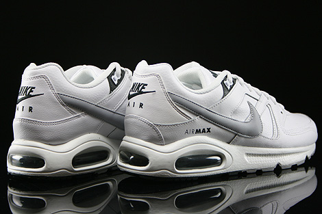 Nike Air Max Command Leather Weiss Grau Anthrazit Rueckansicht